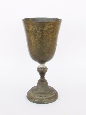 Rare Antique 18Th Century Portuguese Pewter Chalice