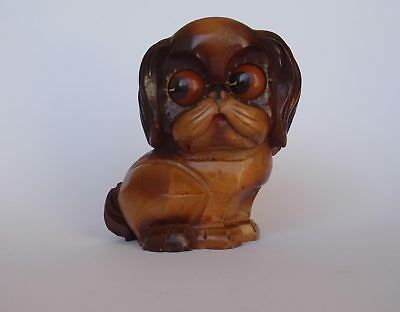 Rare Oswald Osuhr Cute Dog Rotating Rolling Eye Clock Black Forest Germany c1930