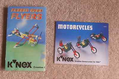 2 K-nex instruction guides - motorcyles and aeroplanes