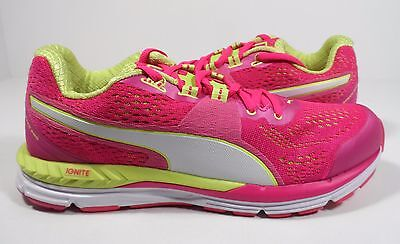 def56982e1c5d6 Puma Speed 600 Ignite Womens Synthetic Fashion Sneakers Pink Green White  Size 9