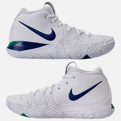 watch cddd3 6db7b NIKE KYRIE 4 MEN s BASKETBALL WHITE - DEEP ROYAL AUTHENTIC NEW IN BOX US  SIZE