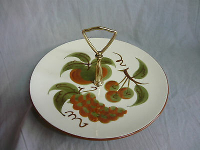 STANGL POTTERY ORCHARD SONG TIDBIT PLATE Mid Century