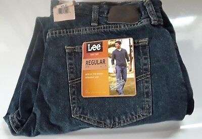 NWT LEE MEN'S REGULAR FIT DENIM JEANS Straight Leg Classic 20089 38 x 30 NEW