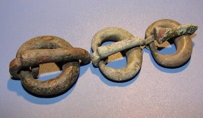 Ancient fragments of clasps of clothing  2 - 7 century. BC. Bronze. Original.