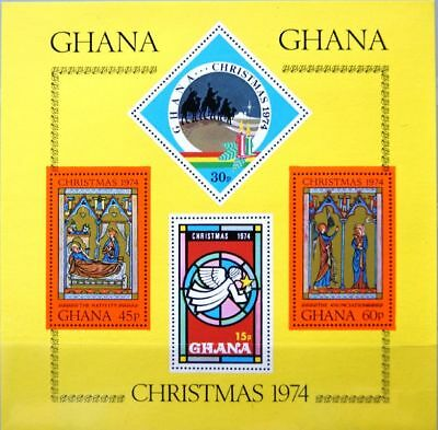 GHANA 1974 Block 59 S/S 548 Christmas Weihnachten Religion Three Kings MNH