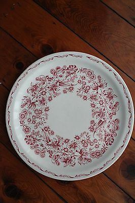 "Narorim Mayer China Delmar Red Multi Floral 9.75"" Dinner Plate Vintage 1930-1950"
