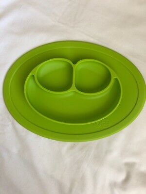 EZPZ Toddler Table Mini Mat - One-piece Silicone Placemat Plate Lime