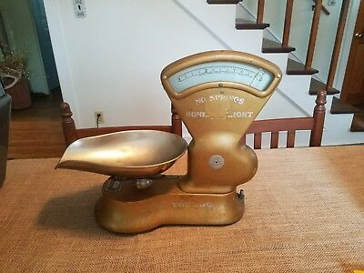 ANTIQUE Toledo Candy Scale 3 lbs Country Store No Springs Beautiful!