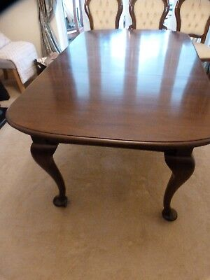 Antique Queen Anne Style Mahogany Extending Dining Table C20th