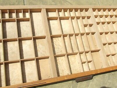 Letterpress Printing WOODEN TYPECASE  S.B.&Co. VERY GOOD CONDITION Compositor's