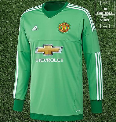 new products f0ca4 3c99f MANCHESTER UNITED GOALKEEPER Shirt - Official adidas Man Utd Jersey - Mens