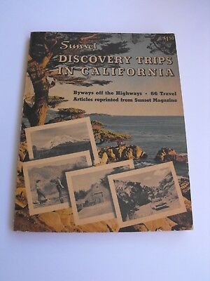 Vintage 1955 Sunset Book DISCOVERY TRIPS IN CALIFORNIA Old Maps & Photographs