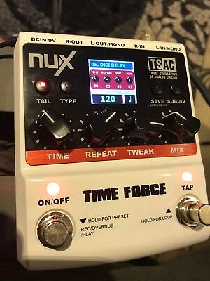 NUX Time Force Multi Digital Delay Pedal 11 models 9 storable Effects