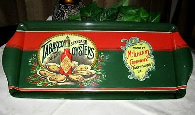 Tabasco Serving Tray Platter Melamine Oysters Hot Pepper Sauce Condiment Barware