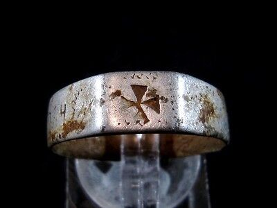 Extremely Rare Wwi 1914 - 1917  German Military Aluminum Ring!!!