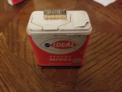 Vintage Ideal Ground Paprika Spice Tin Advertising Collectible