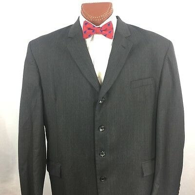 ANDREW FEZZA - Charcoal Gray 4 Button Sports Coat Blazer Jacket 48L Mens