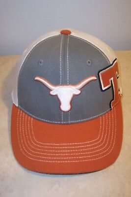 sports shoes 622ae c6317 University Of Texas Longhorns One Fit Hat Trucker Cap Top Of The World Brand