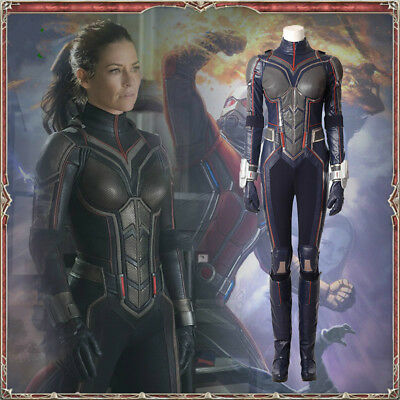 Ant-Man 2 Ant-Man And The Wasp Women's Cosplay Dress Costume Full Set Marvel Hot