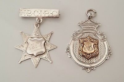 Two fob presentation medals In sterling silver 1914 & 1961
