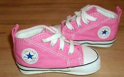fac17d942617 Converse Kids Chuck Taylor First Star Pink Infant Girl Baby Crib Shoes Size  2