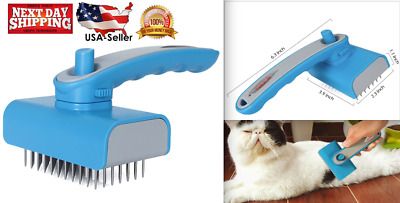 Pet Self Cleaning Slicker Brush Dog Cats Grooming Brush Perfect for Long Hair