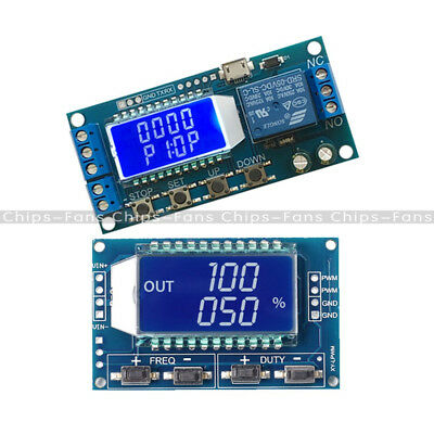PWM Pulse Frequency Square Wave Signal Generator Trigger Cycle Switch Time Delay