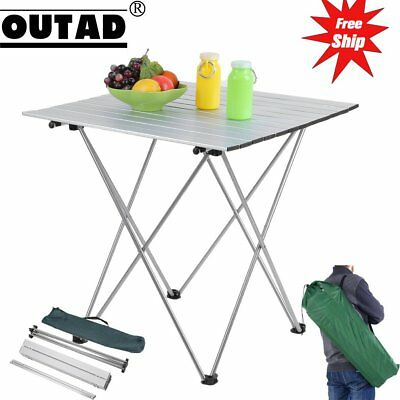 Aluminum Roll Up Table Folding Camping Outdoor Indoor Picnic Bag Heavy Duty HM