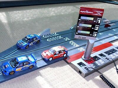 Scx Digital Pit Stop Set 3 Cars Heaps Extra Track  Ready To Race Scalextric