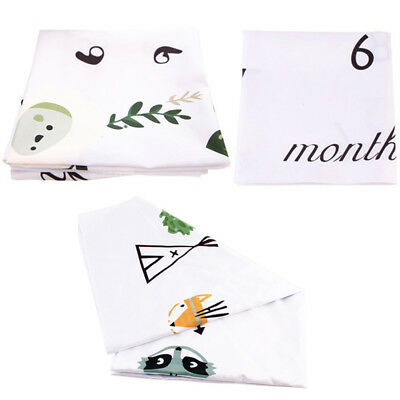 Cute Newborn Baby Milestone Wrap Photo Photography Prop Cloth Backdrop 100x100