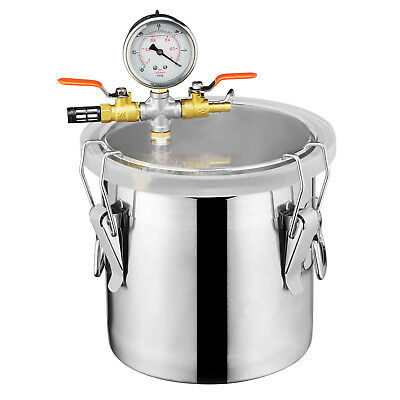KUPPET 5 Gallon Vacuum Chamber Degass Urethanes Silicone Epoxies Stainless Steel