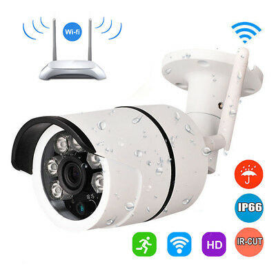 HD 720P Outdoor Wireless WIFI IP Camera Network Night Vision CCTV Security White