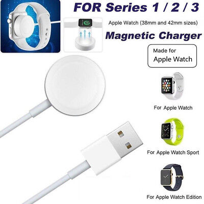 For Apple Watch 2/3 iWatch 38mm & 42mm Magnetic Charger Charging Pad Cable