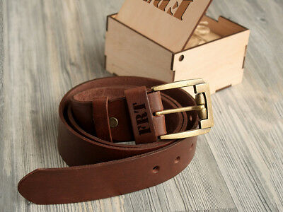 Custom Leather Belt 1 5 Personalized Gifts For Him Men S Belt Gift Box Free