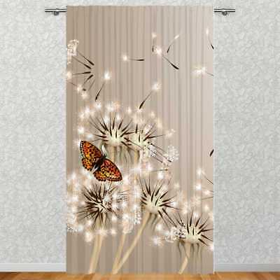 vorhang motiv pusteblume mit schmetterling fotodruck versch ma e 1 o 2 tg eur 59 00. Black Bedroom Furniture Sets. Home Design Ideas