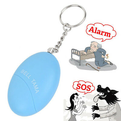 Personal Security Alarm Anti Attack Rape Self Defense Egg-Shaped Safe Keychain R