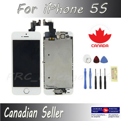 For iPhone White 5S Full LCD Display Touch Screen Digitizer Assembly Replacement