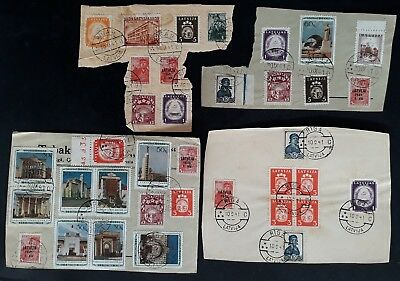 RARE 1941 Latvia (German Occpn) lot of 36 Latvian & Soviet stamps On Piece