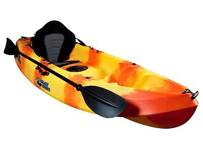 Sit On Top Leisure Kayak Canoe Galaxy Fuego River Sea Lakes With Seat & Paddle