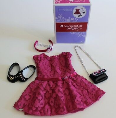 American Girl Doll Dress Shoes Purse Set Merry Magenta Pink Christmas