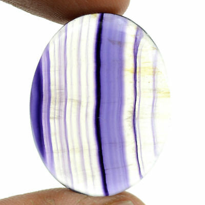 Cts. 44.05 Natural Purple Multi Fluorite Cabochon Oval Loose Gemstones 32X24 MM
