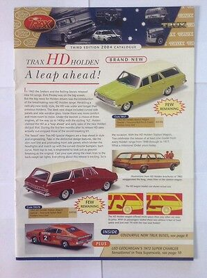 Trax Catalogue Third Edition 2004 - Holden, Ford, Valiant, Chrysler Model Cars