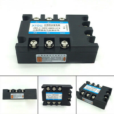 JGX-3 Three Phase 3PHASE SOLID STATE RELAY DC-AC 100A Input 3-32VDC 6-36mA Kits