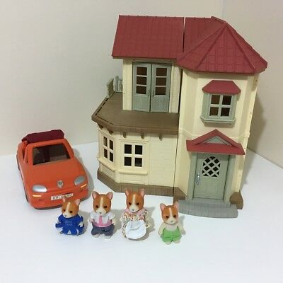 Sylvanian Families Beechwood Hall. Incomplete but Furnished