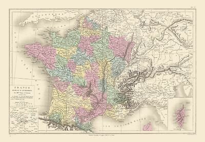 International Map - France - Governments - Drioux 1882 - 33.13 x 23