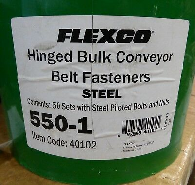 Flexco Hinged Bulk Conveyor Belt Fasteners 40102