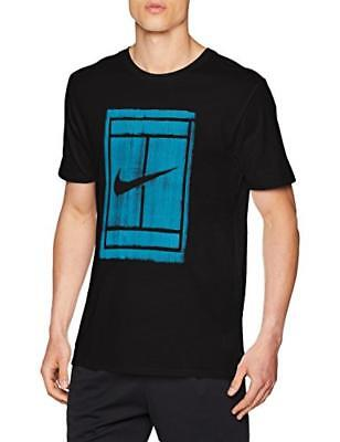 TG. Medium Nike COURT Tennis Tshirt a maniche corte Uomo 913501010 Black/