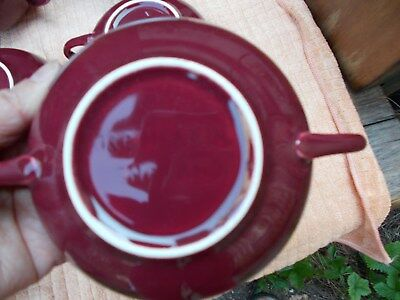 Burgundy Meakin soup bowl, 6 available, Donegal pattern?