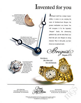 Breguet DePuis 1775 watch print ad 2000 Invented for You - gears & hands