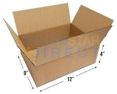 "12"" x 9"" x 4"" Single Wall Medium Postal Packaging Mail Cardboard Boxes"
